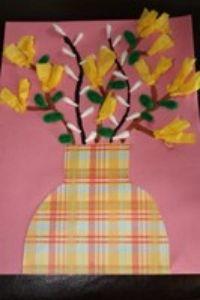 flower vase craft with paper