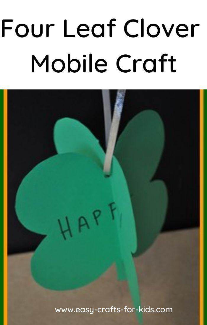 four leaf clover mobile craft
