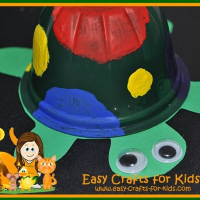 fruit cup turtle crafts for kids