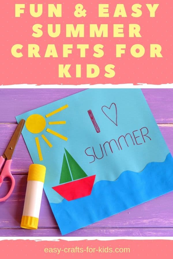 Fun summer crafts for kids #kidscrfts #crafts #craftsforkids #summercrafts #summeractivities