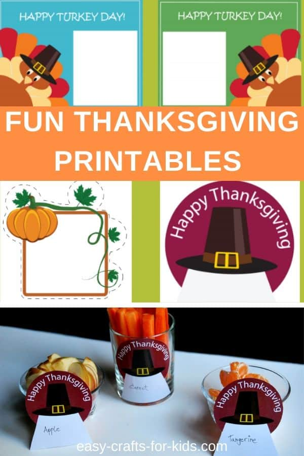 Fun Thanksgiving printables #Thanksgiving #holidays #printables