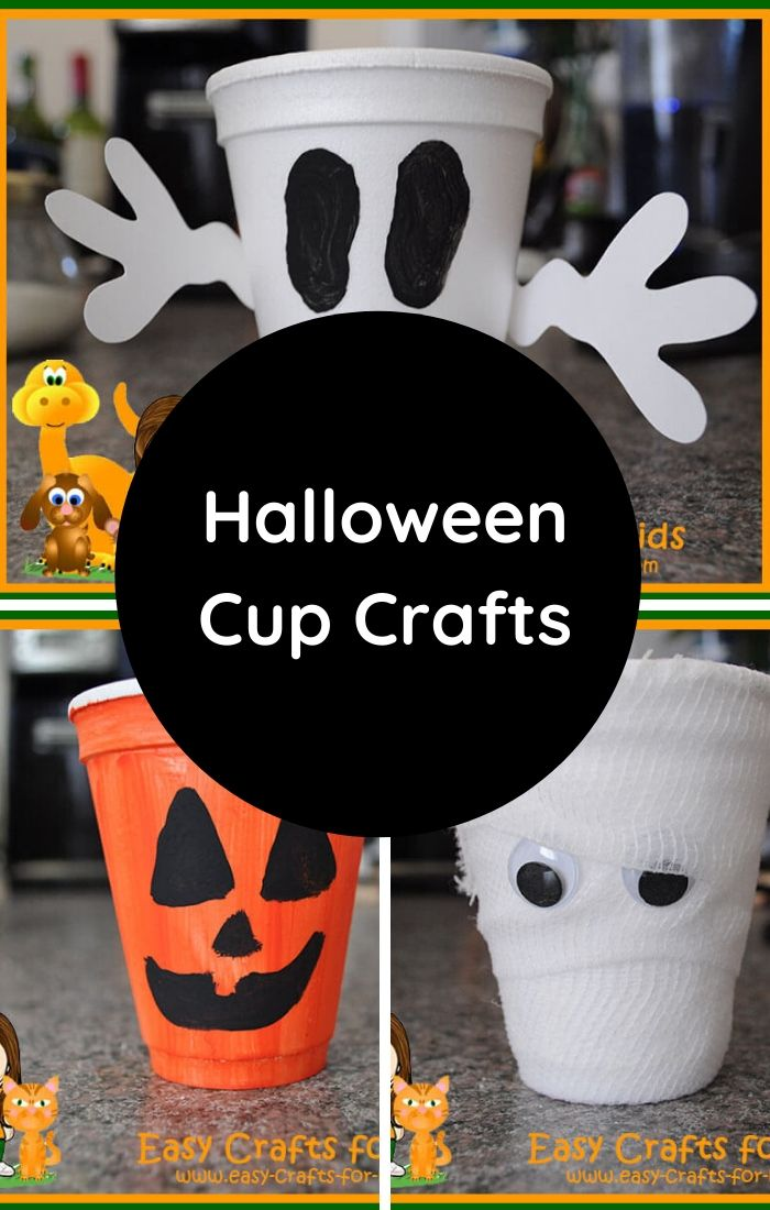 halloween craft with paper cup