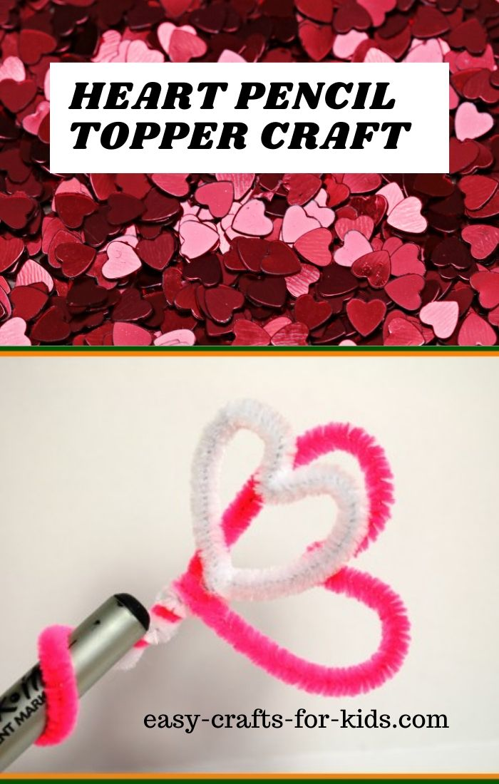 Heart pencil topper craft