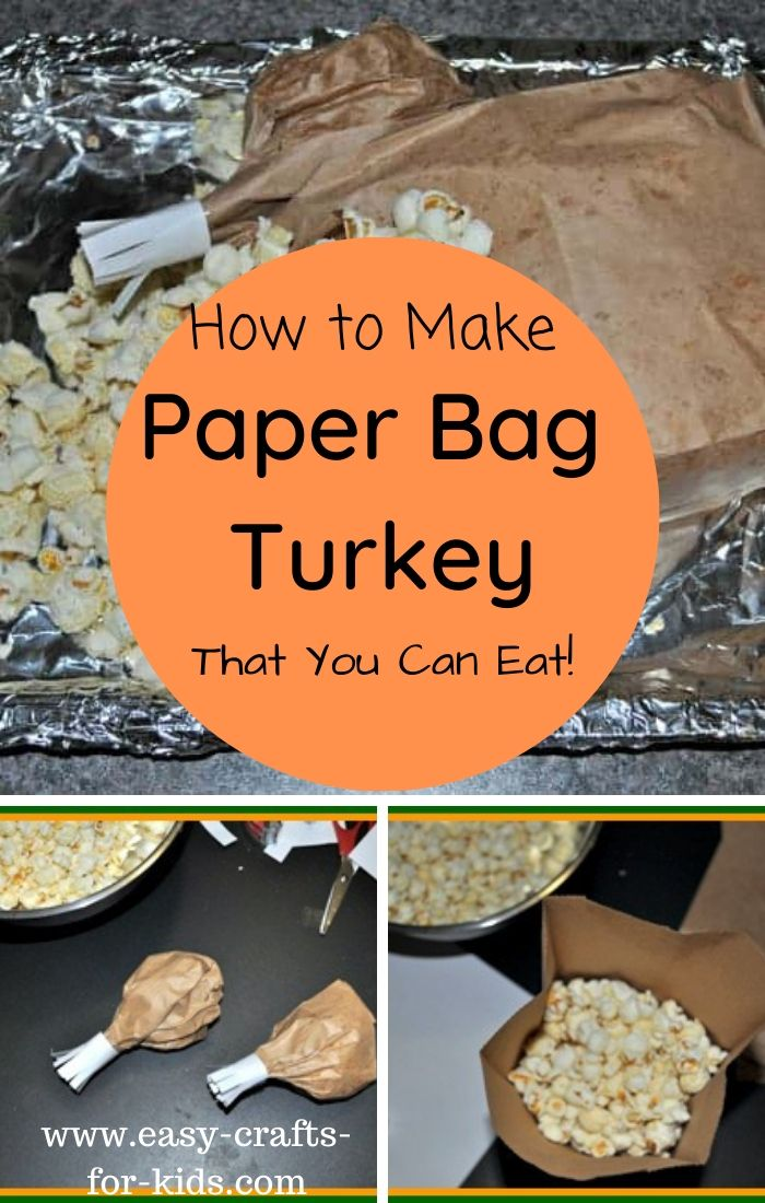 Brown Paper Bag Turkey - Best Edible Thanksgiving Crafts