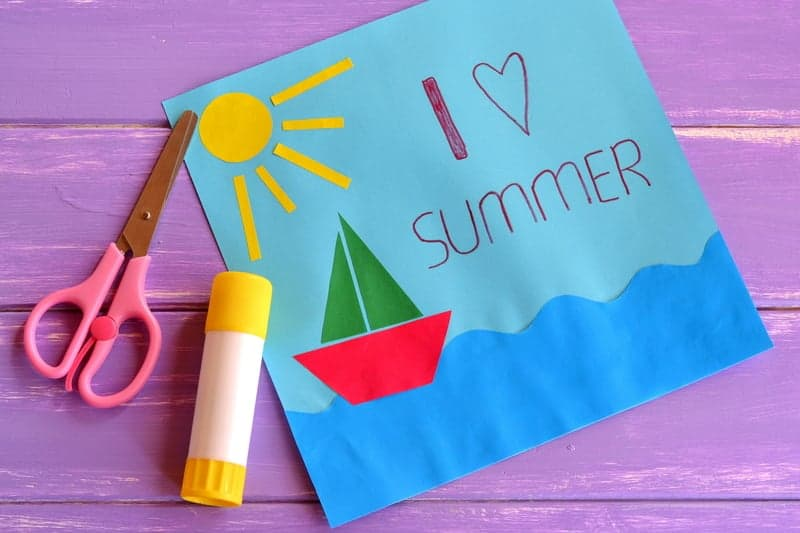 I love summer - fun paper craft for summer