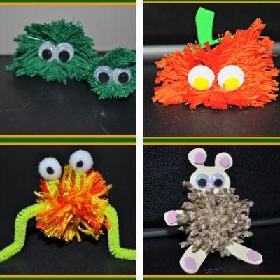 kids craft with yarn