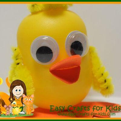 Kinder Egg Duck Craft
