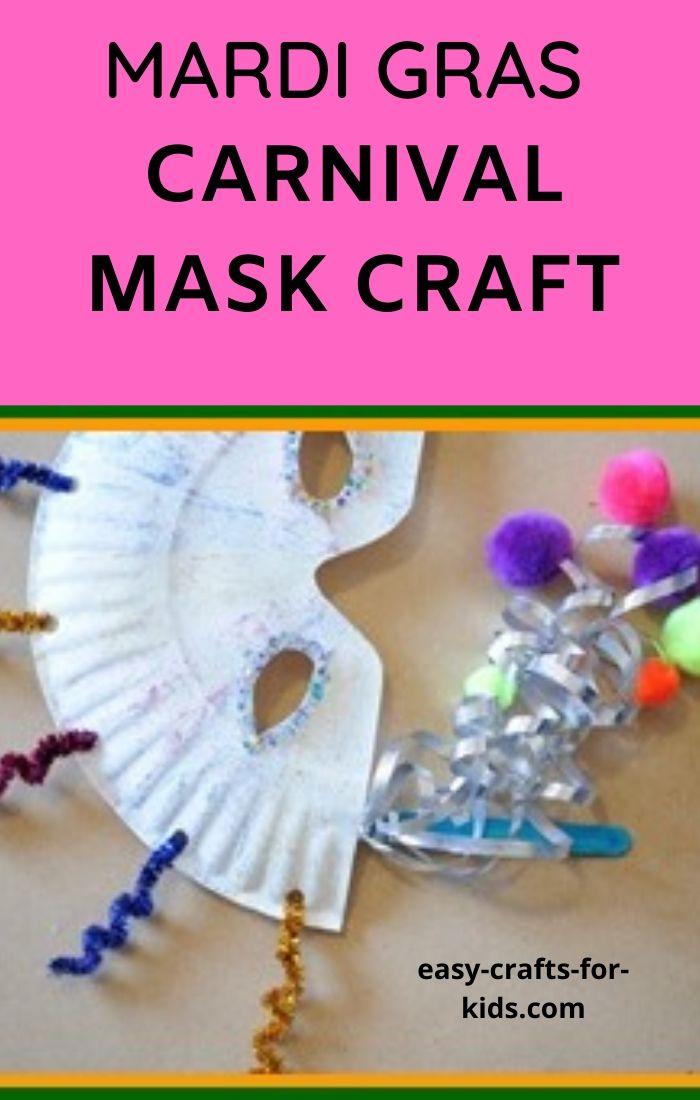 mardi gras carnival mask craft