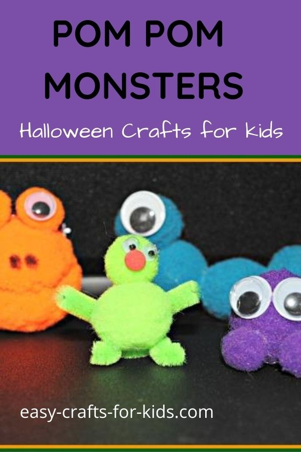 monster craft with pom poms