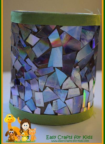 Mosaic Flower Pot Craft for Kids