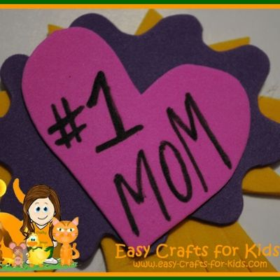 mothers day badge craft