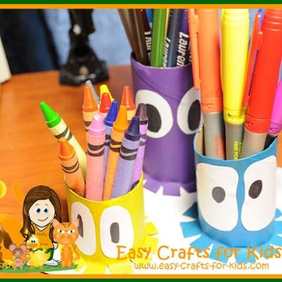ocean kids pencil holder craft