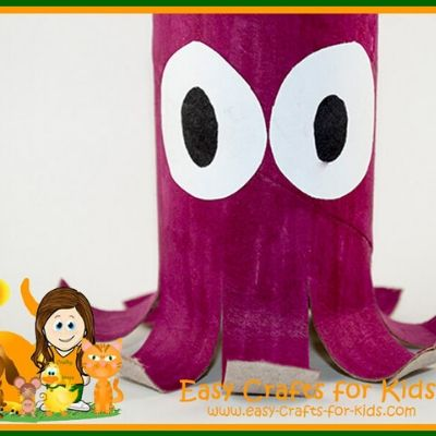 octopus paper craft for kids