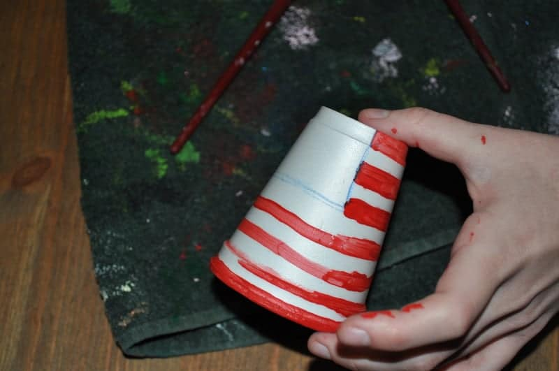 how to paint a flag on a cup