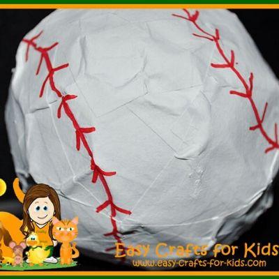 paper mache baseball crafts