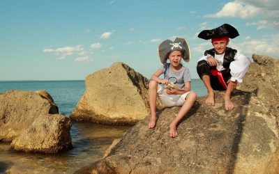Pirate kids having fun