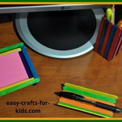 popsicle stick crafts for desk