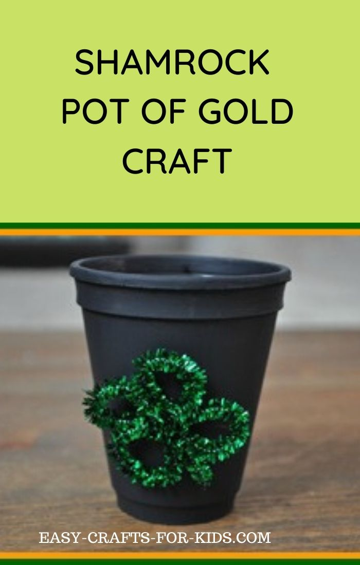 Pot of Gold St Patricks Day Craft for Kids