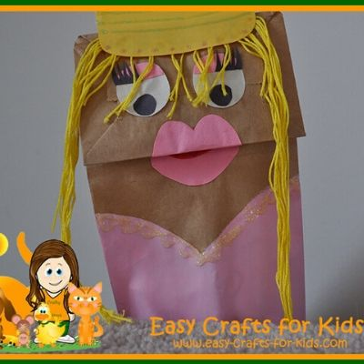 princess craft with paper bags