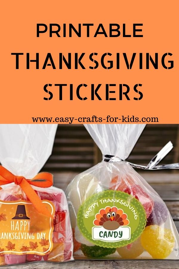 Printable thanksgiving stickers