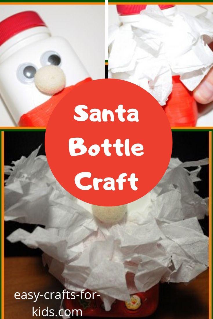 santa bottle craft