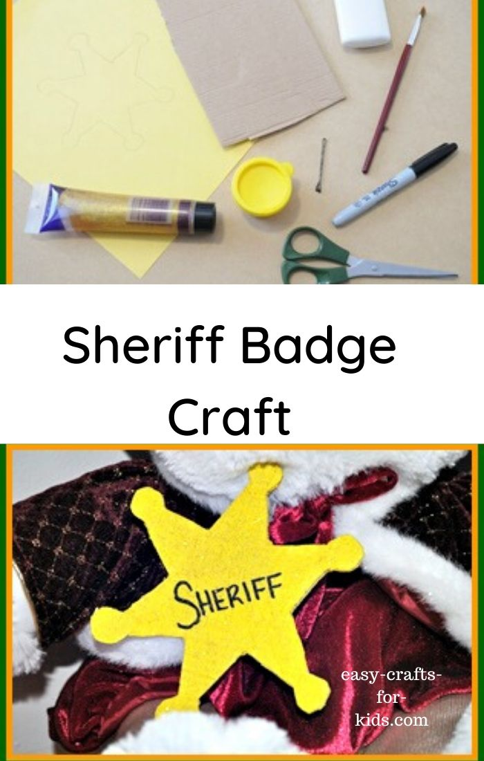 sheriff badge craft