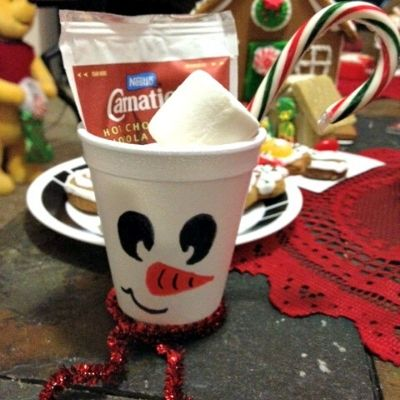 Delicious Snowman Soup Craft