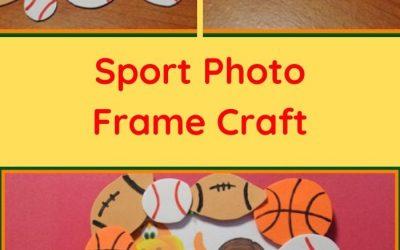 sport photo frame craft