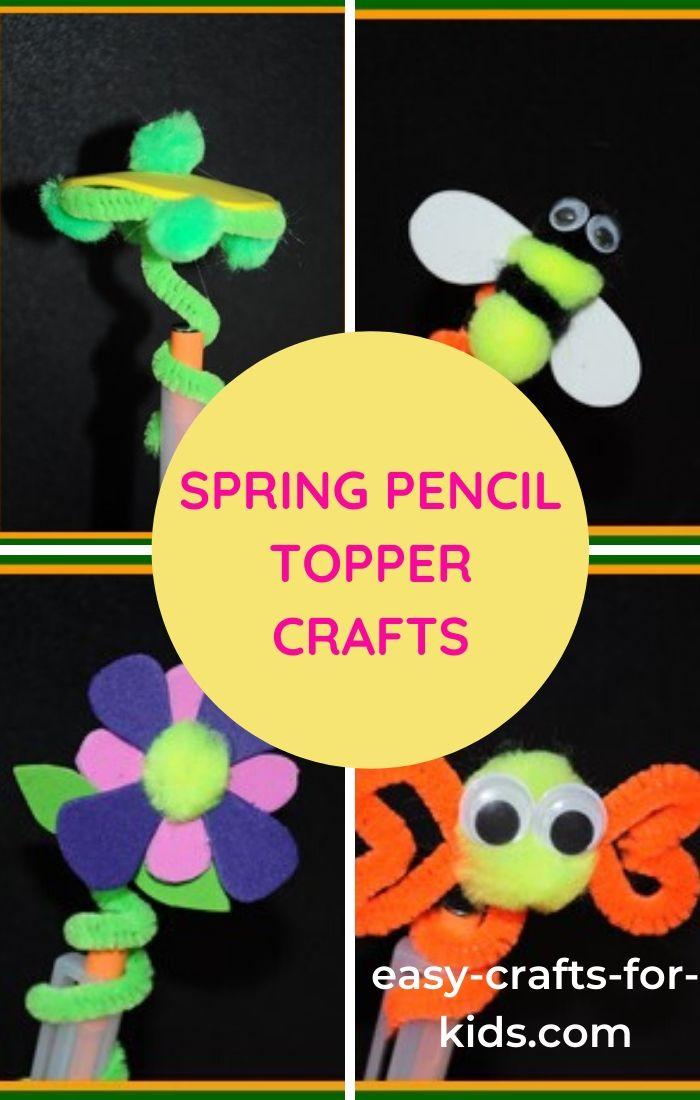 spring pencil topper craft ideas