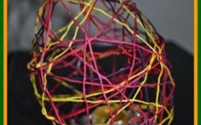string mache easter egg crafts