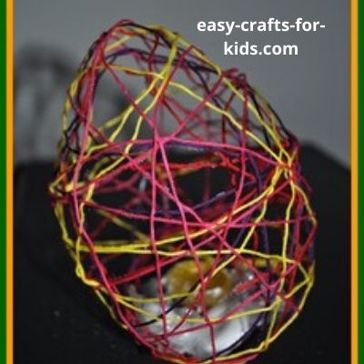 string mache easter egg crafts