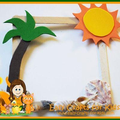 summer photo frame craft