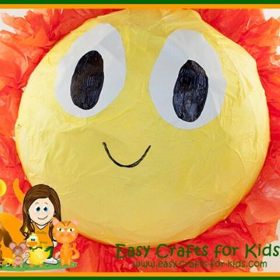 sun pinata sunshine craft