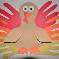 Thanksgiving Hand Turkey Craft