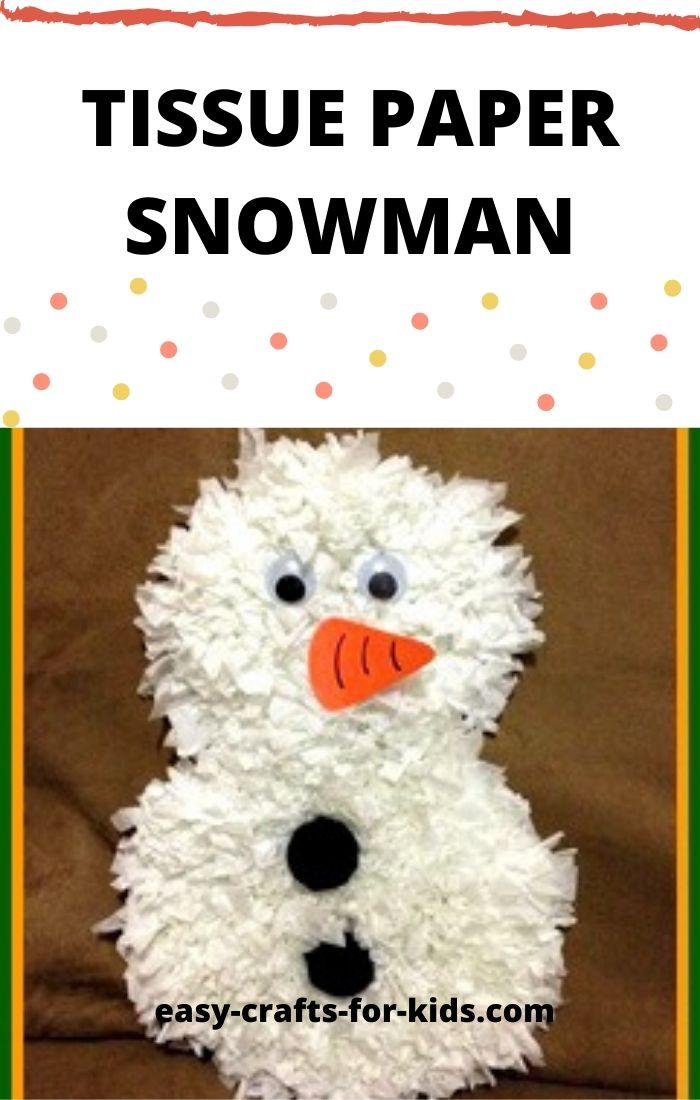 tissue paper snowman