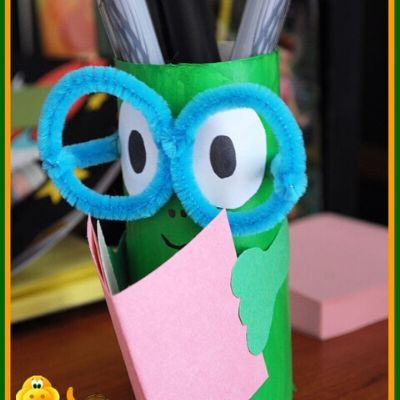 toilet paper roll crafts pencil holder