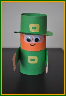 Toilet Paper Roll Leprechaun Craft For Kids