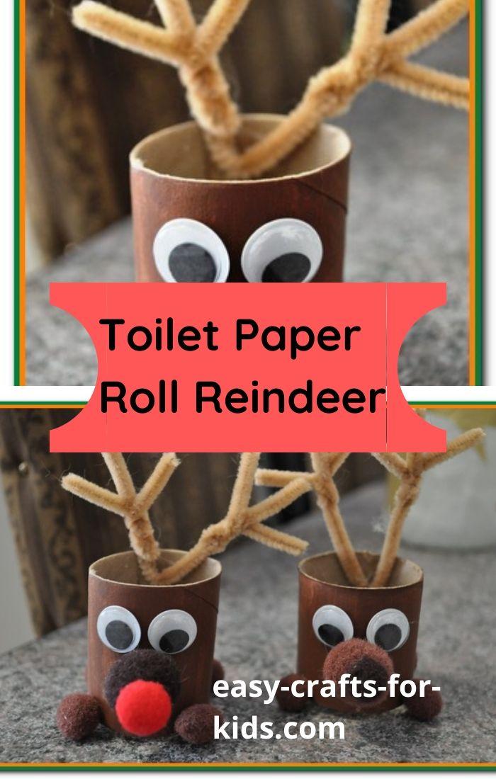 toilet paper roll reindeer