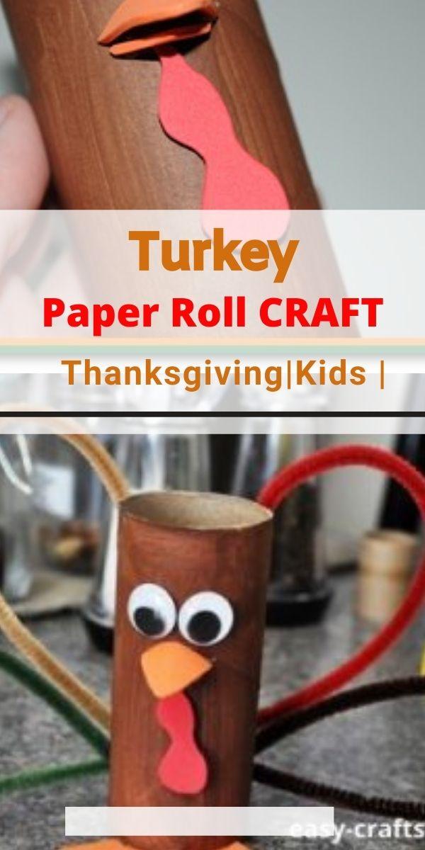 turkey thanksgiving toilet paper roll crafts