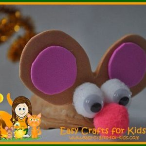 walnut mouse craft
