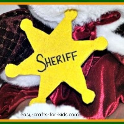 woody sheriff badge craft