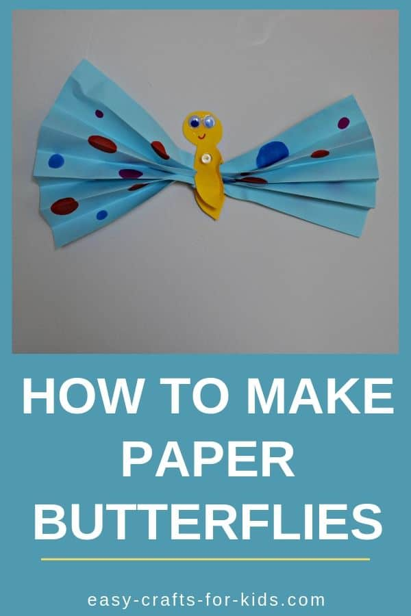 How to make paper butterflies #kidscrafts #kidsactivities #funcrafts #paperbutterflies #easycraftsforkids