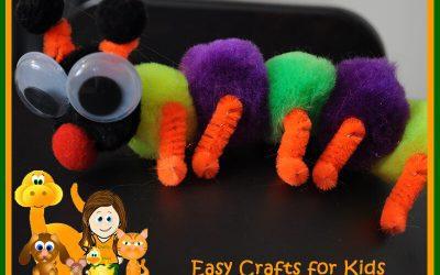 caterpillar crafts with pom poms