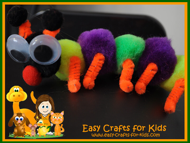 caterpillar crafts with pom poms