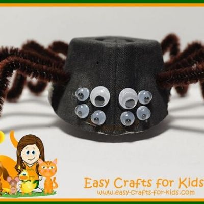 halloween spider craft