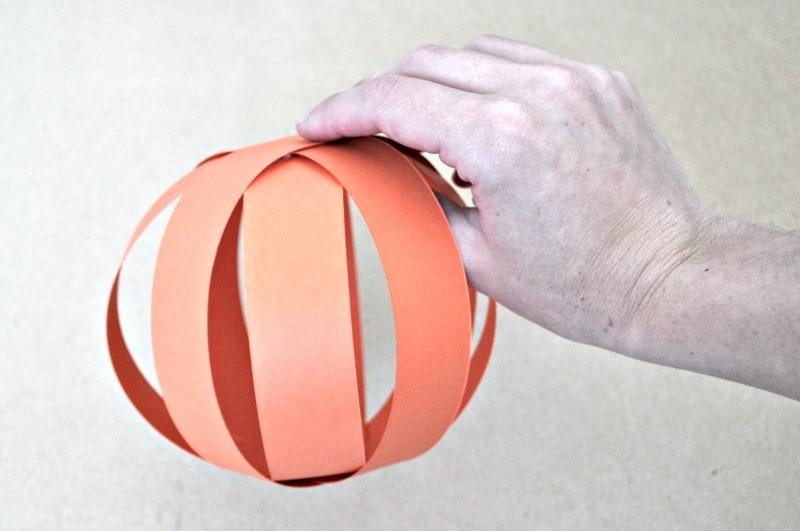Orange paper ball