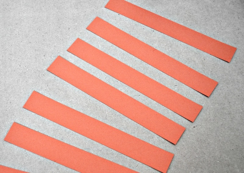 Orange strips of paper