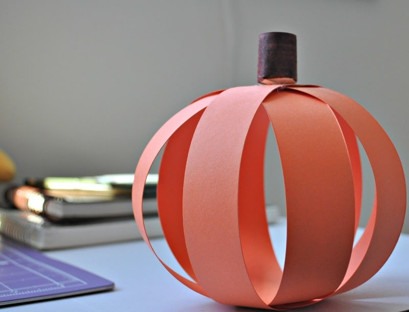 Pumpkin made out of construction paper