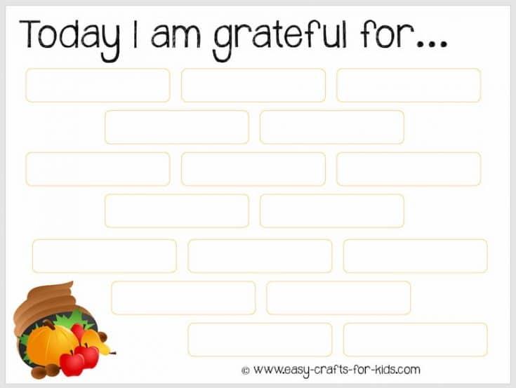Thanksgiving Printable - Teaching Kids To Be Grateful!