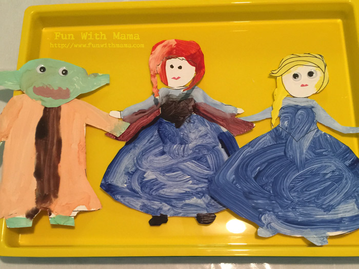 Anna And Elsa Art Craft Activity